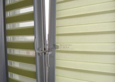 Рулонные кассетные шторы системы Uni-Uni2 Зебра (день-ночь)