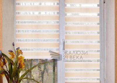 Рулонные шторы системы Mini Зебра (день-ночь)
